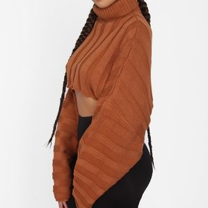 Fall Leaves Cropped Top Sweater
